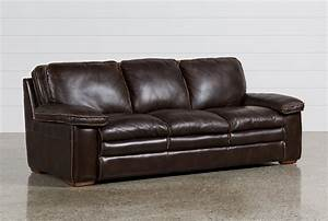 walter leather sofa living spaces With letter furniture