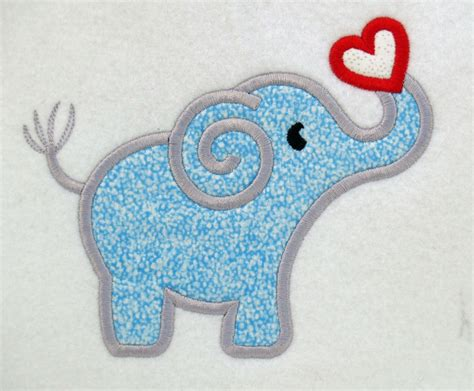 Free Machine Embroidery Applique by Elephant And Applique Machine Embroidery Design