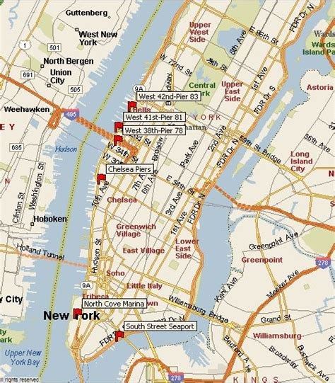 Boat Ride Seaport Nyc by Guide To New York City Boat Tours Map Of Pier Locations