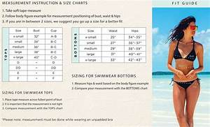 Body Glove Swimsuit Size Chart The Swimwear Sizechart Has Additional Specifications To