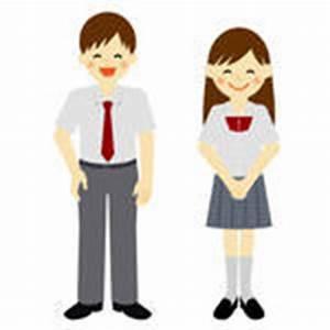 Uniformed School Boy and School Girl / Vector EPS 10 ...
