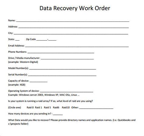 work order samples   word excel apple