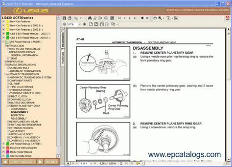 car repair manuals online pdf 2001 lexus ls instrument cluster lexus ls 430 repair manual cars repair manuals