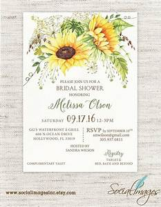 sunflower bridal shower invitation wedding shower With wedding shower invitations with sunflowers