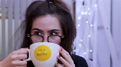 Dodie Clark Tea Plain Drinking Freckles While