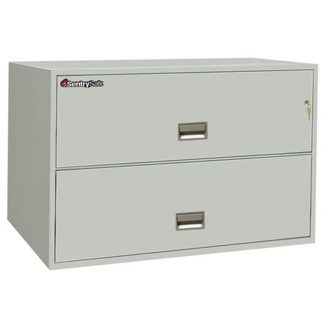 sentry 2 drawer fireproof file cabinet sentry 2l4300 2 drawer file cabinet 43 quot wide