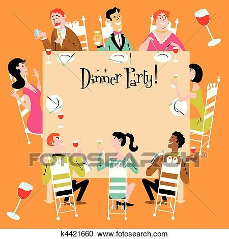 clipart  dinner party invitation  search clip