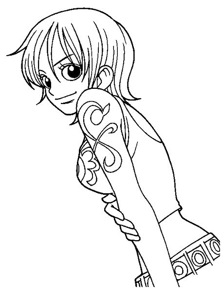 Halloween Coloring Pages: Anime Manga One Piece Coloring