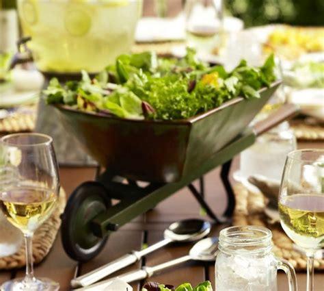 wheelbarrow serve bowl pottery barn salads pinterest