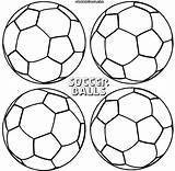 Soccer Ball Coloring Pages Print Soccerball sketch template