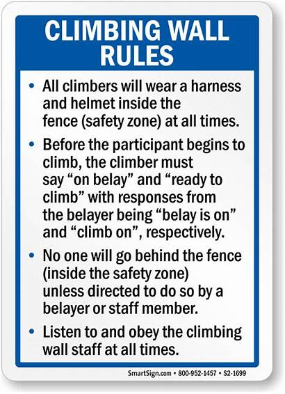 Rules Playground Safety Signs Sign Harness Climbing