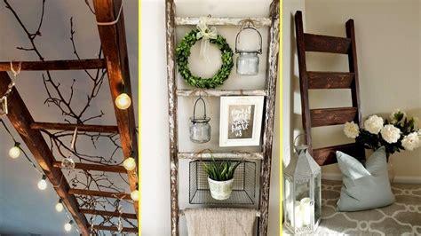 diy farmhouse style rustic ladder decor ideas  home