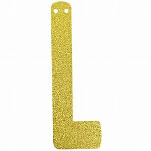 glitter letter banner garland 6inch gold letter l With gold letter l