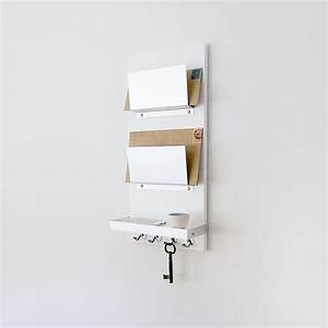 modern mail organizer white wall mount iphone wallet key With white wall letter holder