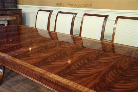 High End Extra Large Long Mahogany Dining Table Seats 12