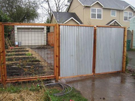 Amazing Corrugated Metal Fence