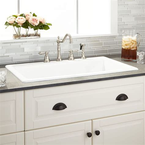 Drop In Farmhouse Sink White by Best 25 Drop In Kitchen Sink Ideas On