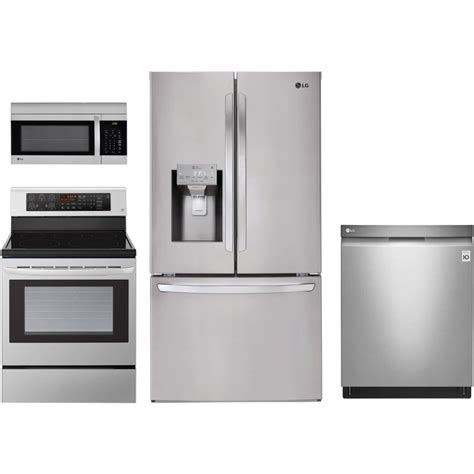 kitchen appliances packages lg 4 electric kitchen appliance package stainless