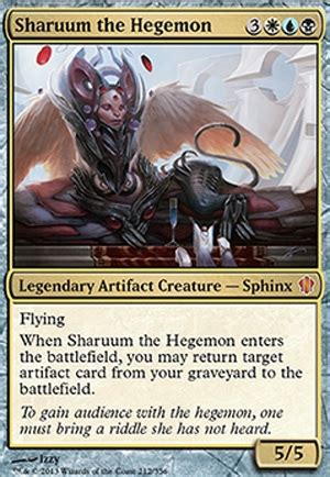 Artifact Commander Deck Tappedout by Sharuum The Hegemon C13 Mtg Card