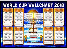 Russia World Cup Wall Chart 2018 1 DAY TO GO! eBay
