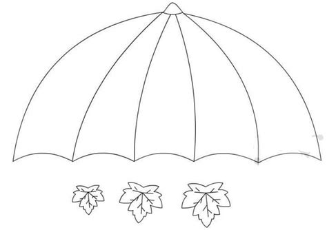 umbrella craft template 1 171 preschool and homeschool 736 | umbrella craft template 1