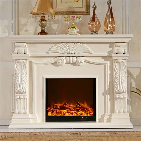 English style fireplace set wood mantel W160cm electric