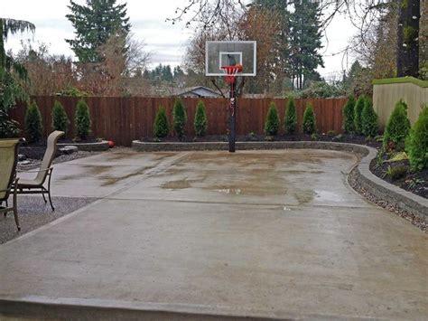25 best ideas about concrete backyard on