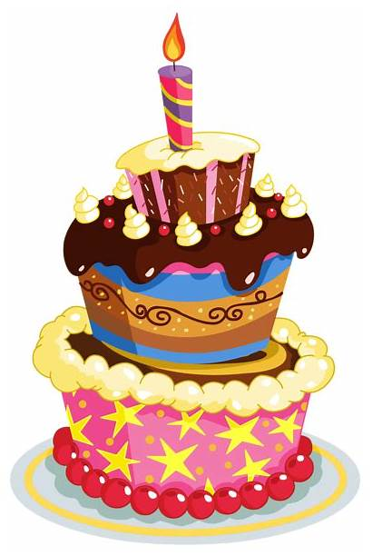 Birthday Clipart Cake Colorful Cakes Transparent Yopriceville