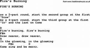 Summer Camp Song Fireu002639s Burning With Lyrics And Chords