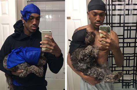 This Teen Got A Matching Durag For His Dog And It's Just