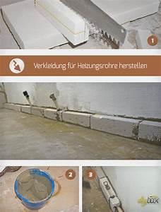 Verkleidung Heizungsrohre Basteln : verkleidung f r heizungsrohre mit porenbetonsteinen herstellen anleitung ~ Orissabook.com Haus und Dekorationen