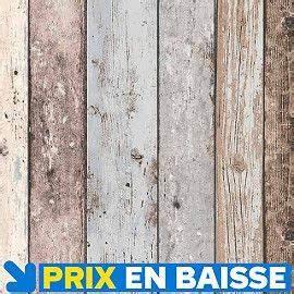 Planche De Bois Vieilli : papier peint vinyle sur intiss planches bois bleut papier peint chambre pinterest ~ Mglfilm.com Idées de Décoration