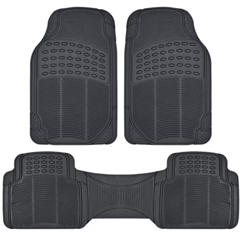 floor mats minivan van suv rubber floor mats 3 row w cargo mat all weather trimmable black