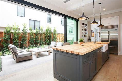 kitchen  sliding glass patio doors transitional