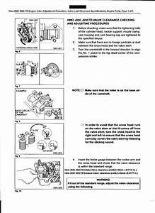 Hino J05c J05c Td Engine Valve Adjustment Procedure  Valve