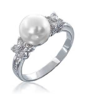 pearl wedding rings pearl engagement ring