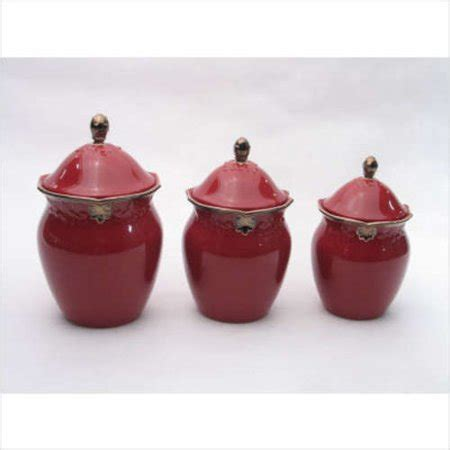 burgundy kitchen canisters certified international regency burgundy canisters with