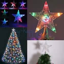 led twinkling lights indoor outdoor christmas tree topper star light xmas l 163 7 95 picclick uk