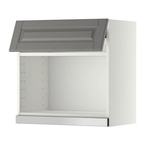ikea microwave wall cabinet metod wall cabinet for microwave oven white bodbyn grey