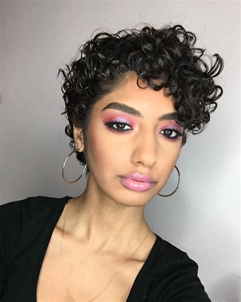 Curly Pixie Cut Hairstyles feminine curly pixie thickwings instagram hairstyles i