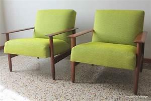 Cocktail Scandinave Fauteuil : fauteuils scandinave 80 39 s vert inspiration vintage ~ Carolinahurricanesstore.com Idées de Décoration