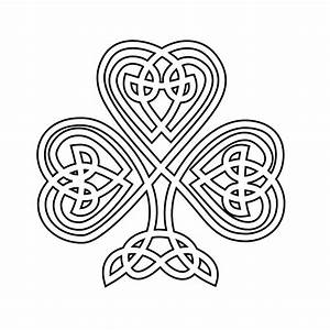 Celtic Clip Art Black and White Coloring Page, Celtic Knot ...