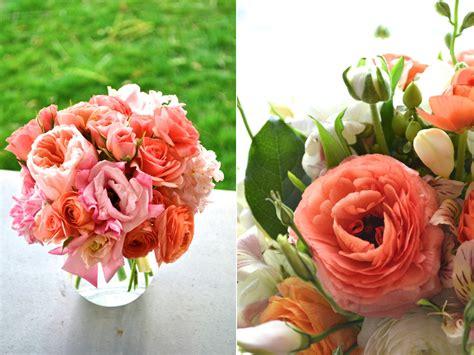 coral flower arrangements calie rose