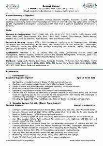 Network Engineer Objective Sample Resume For Network Engineer L2 Network Admin Team Leader