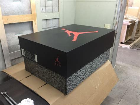 Custom Made Jordan Storage Box Wood Retro By Soleshoeboxes
