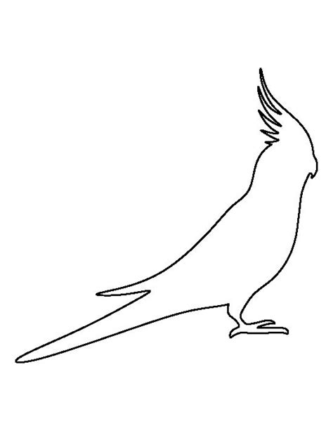 Cockatiel pattern. Use the printable outline for crafts
