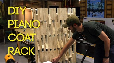 build piano style wooden coat rack youtube