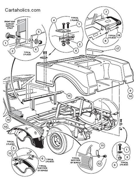 Need Info Club Car Body Removal Cartaholics Golf Cart