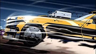 Redline Anime Cars Racing Cel Gifs Shaded