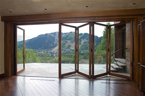 different types of exterior folding sliding patio doors